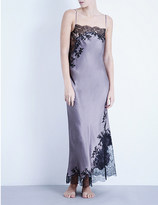 Carine Gilson Butterfly silk-satin and lace nightdress