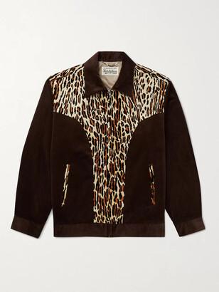 Wacko Maria Panelled Cotton-Corduroy And Leopard-Print Felt Jacket