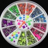Vip Beauty Shop New 2 Styles 6 Colors Neon Stud Rhinestone Fushion Nail Art DIY