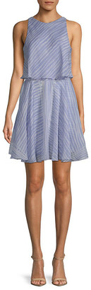 Halston Striped Mini Dress