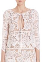For Love & Lemons Gianna Lace Cropped Top