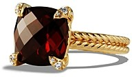 David Yurman Chatelaine Ring with Garnet and Diamonds in 18K Gold