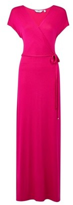 Dorothy Perkins Womens Tall Hot Pink Wrap Maxi Dress, Pink