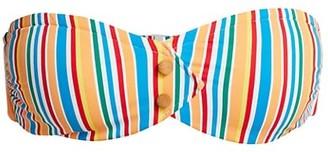 Onia Allegra Striped Strapless Bikini Top