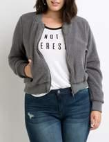 Charlotte Russe Plus Size Faux Fur Bomber Jacket