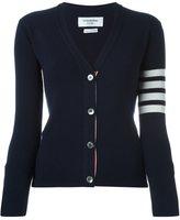 Thom Browne cashmere striped detailing cardigan - women - Cashmere - 38