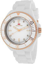 Seapro Sea Bubble Womens White Silicone Strap Watch