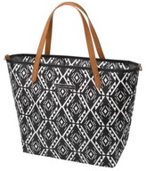 Petunia Pickle Bottom Infant Girl's 'Downtown' Glazed Canvas Tote - Black