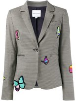 Mira Mikati butterfly patch houndstooth blazer