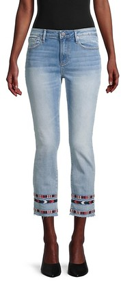 Driftwood Colette Embroidery Cropped Jeans