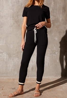 Singer22 SPORTY SWEATPANT WITH STRIPE RIB