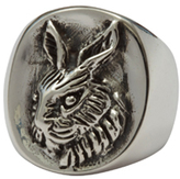 Femme Metale Jewelry Ruffled Rabbit Ring