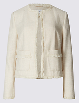 Classic Textured Fringed Trophy Jacket