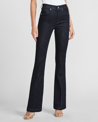 Express High Waisted Dark Wash Bootcut Jeans
