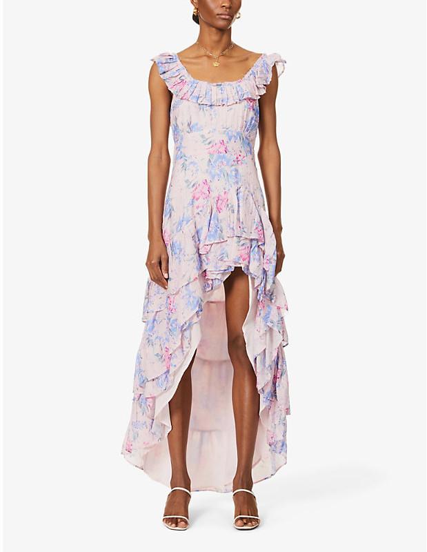 LoveShackFancy Winslow floral-print cotton and silk-blend midi dress