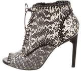 Jason Wu Snakeskin Lace-Up Ankle Boots