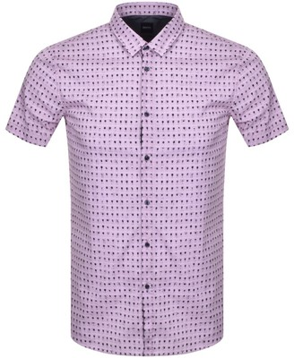 BOSS Magneton Short Sleeve Shirt Pink