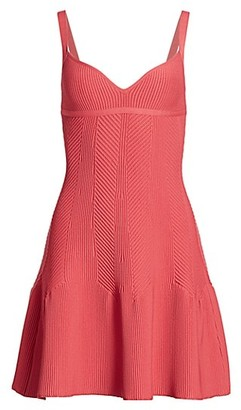 Herve Leger Ribbed Mini Dress