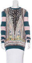 Just Cavalli Print and Stripe Sweater