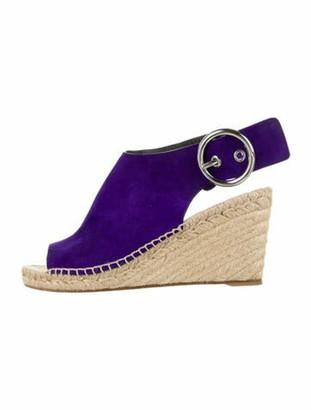 Celine Suede Espadrilles Purple
