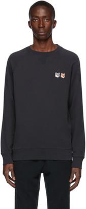 MAISON KITSUNÉ Navy Double Fox Head Classic Sweatshirt