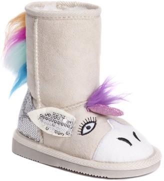 Muk Luks Girls Luna Unicorn Boots Fashion
