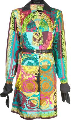 Versace Voyage Barocco printed shirt dress