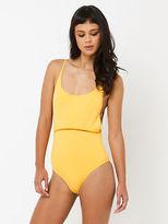 rhythm New My Scoop One Piece In Yellow Womens Swimwear
