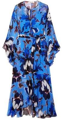 Diane von Furstenberg Lizella Ruffled Floral-print Crepon Wrap Maxi Dress