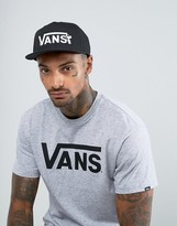 Vans X Peanuts Snapback Cap In Black VA36HYO9M