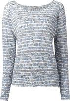 Hemisphere striped sweatshirt - women - Linen/Flax - 40
