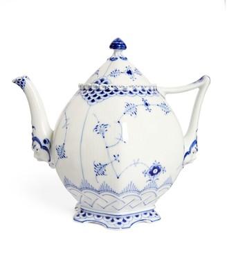 Royal Copenhagen Blue Fluted Full Lace Teapot