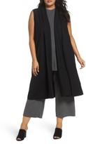 Eileen Fisher Plus Size Women's Long Boiled Wool Vest