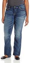 Silver Jeans Women's Plus-Size Suki Mid Rise Slim Bootcut Jean