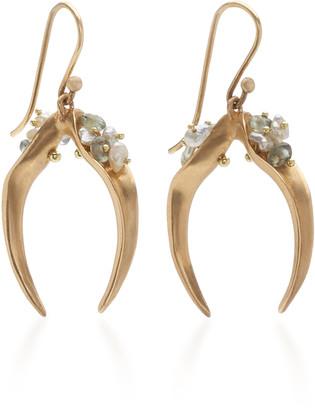 Annette Ferdinandsen 14K Gold, Sapphire And Pearl Earrings