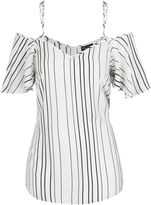 City Chic Uneven Stripe Top