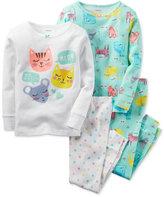 Carter's Toddler Girls' 4-Pc. Sleepy Cats Pajama Set