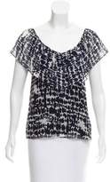 Myne Printed Silk Top
