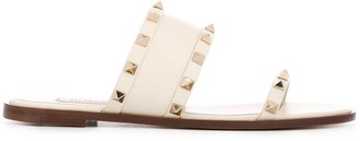 Valentino Rockstud slip-on sandals