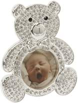 Bambino CG247 Silver Plated Teddy Bear Frame, Crystal Inlay
