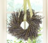 Pottery Barn Dried Lavender Wreath