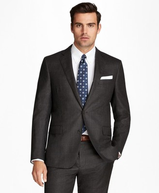 Brooks Brothers Regent Fit Flannel Windowpane 1818 Suit