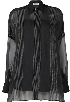 Brunello Cucinelli Sheer Silk-Blend Shirt