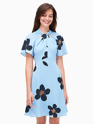 Kate Spade Grand Flora Twist Neck Dress