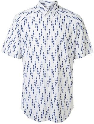 Comme Des Garçons Pre Owned Cut-Away Collar Dotted Shirt