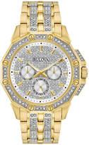 Bulova Mens Gold Tone Bracelet Watch-98c126
