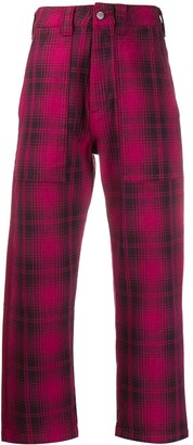 Billy Los Angeles checked cropped trousers