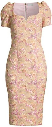Rebecca Vallance Stella Floral Sheath Dress