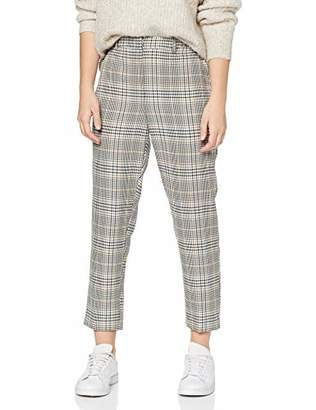 Dorothy Perkins Petite Women's Ac Sienna Printed Check Trouser,(Size:)