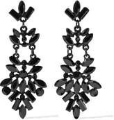 Kenneth Jay Lane Black-tone crystal earrings